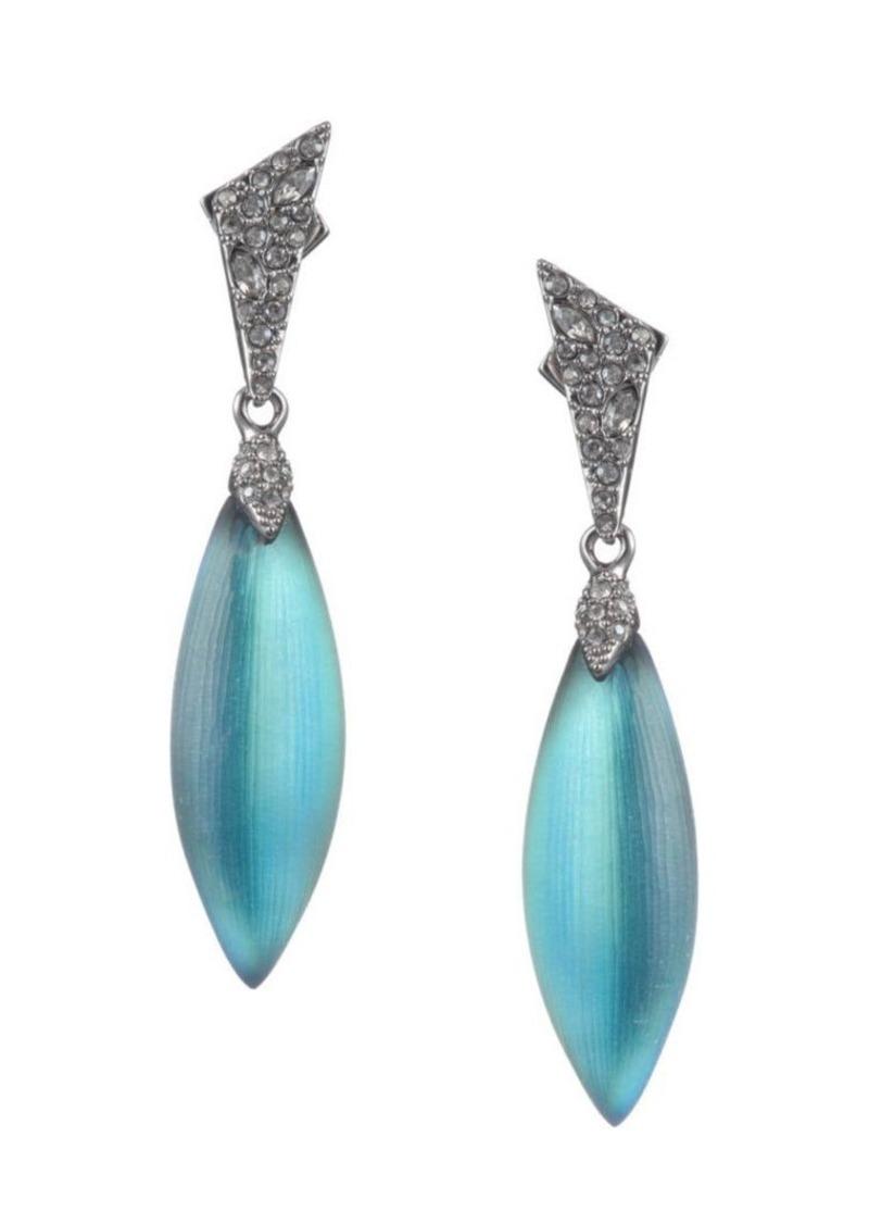 Alexis Bittar Crystal Encrusted Dangling Post Earrings