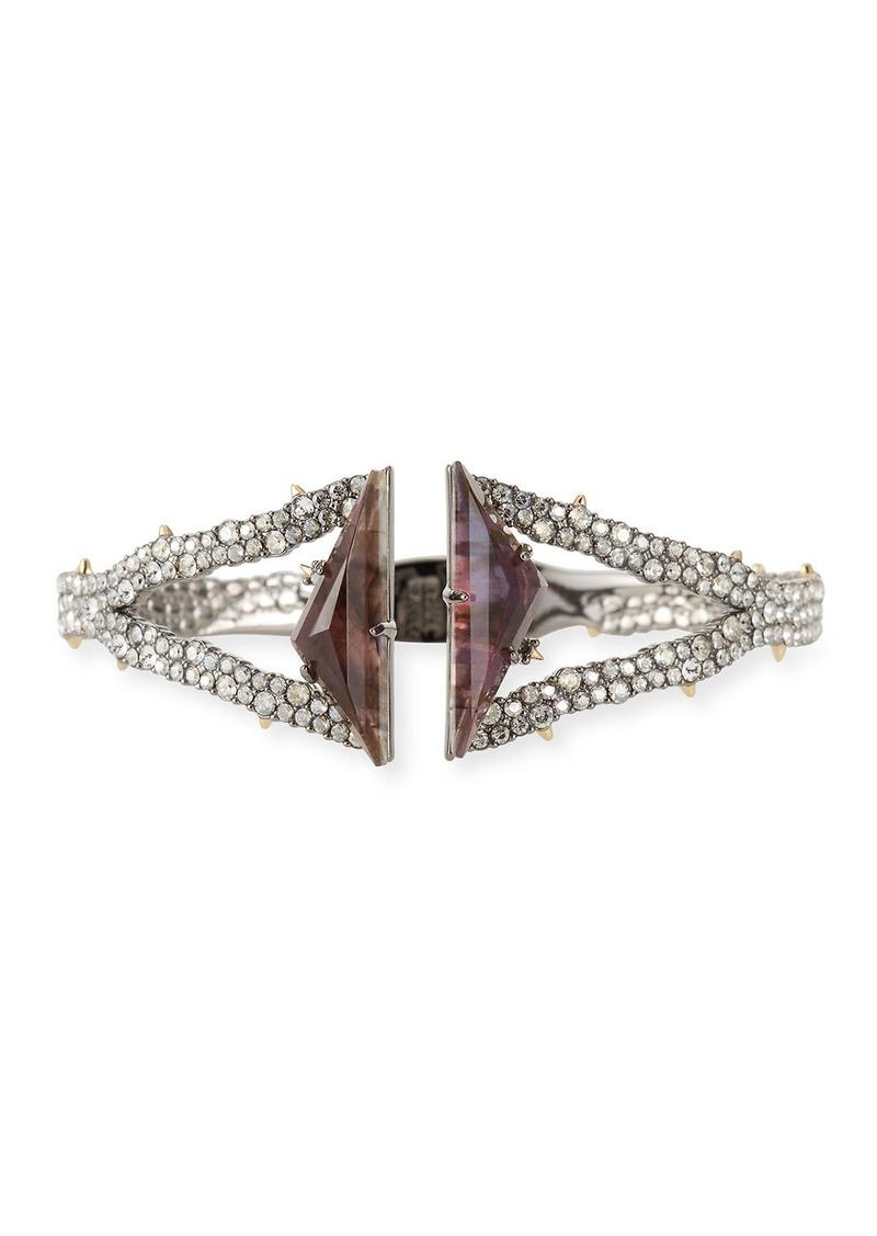 Alexis Bittar Crystal Encrusted Double-Stone Hinge Bracelet
