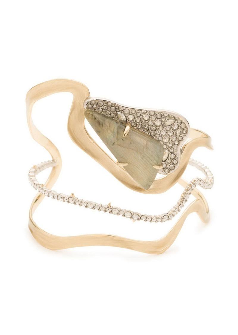 Alexis Bittar Crystal Encrusted Freeform Roxbury Cuff Bracelet