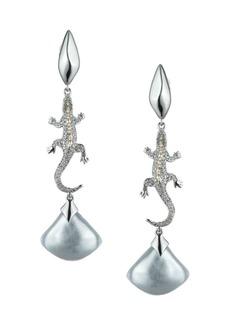 Alexis Bittar Crystal Encrusted Lizard Clip-On Earrings