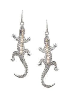 Alexis Bittar Crystal Encrusted Lizard Wire Earrings