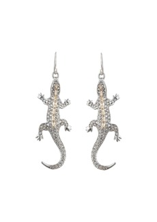 Alexis Bittar Crystal Encrusted Lizard Wire Earrings