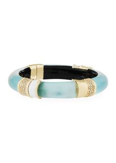 Alexis Bittar Crystal-Encrusted Lucite Hinge Bracelet