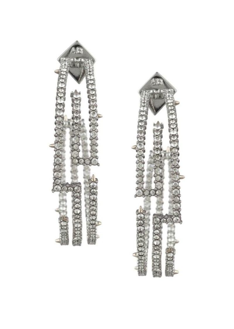 Alexis Bittar Crystal Encrusted Maze Hoop Earrings