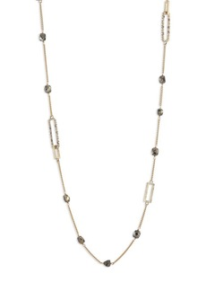 Alexis Bittar Crystal-Encrusted Mixed Stone Station Necklace
