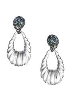 Alexis Bittar Crystal Encrusted Ombré Paisley Rope Teardrop Earrings