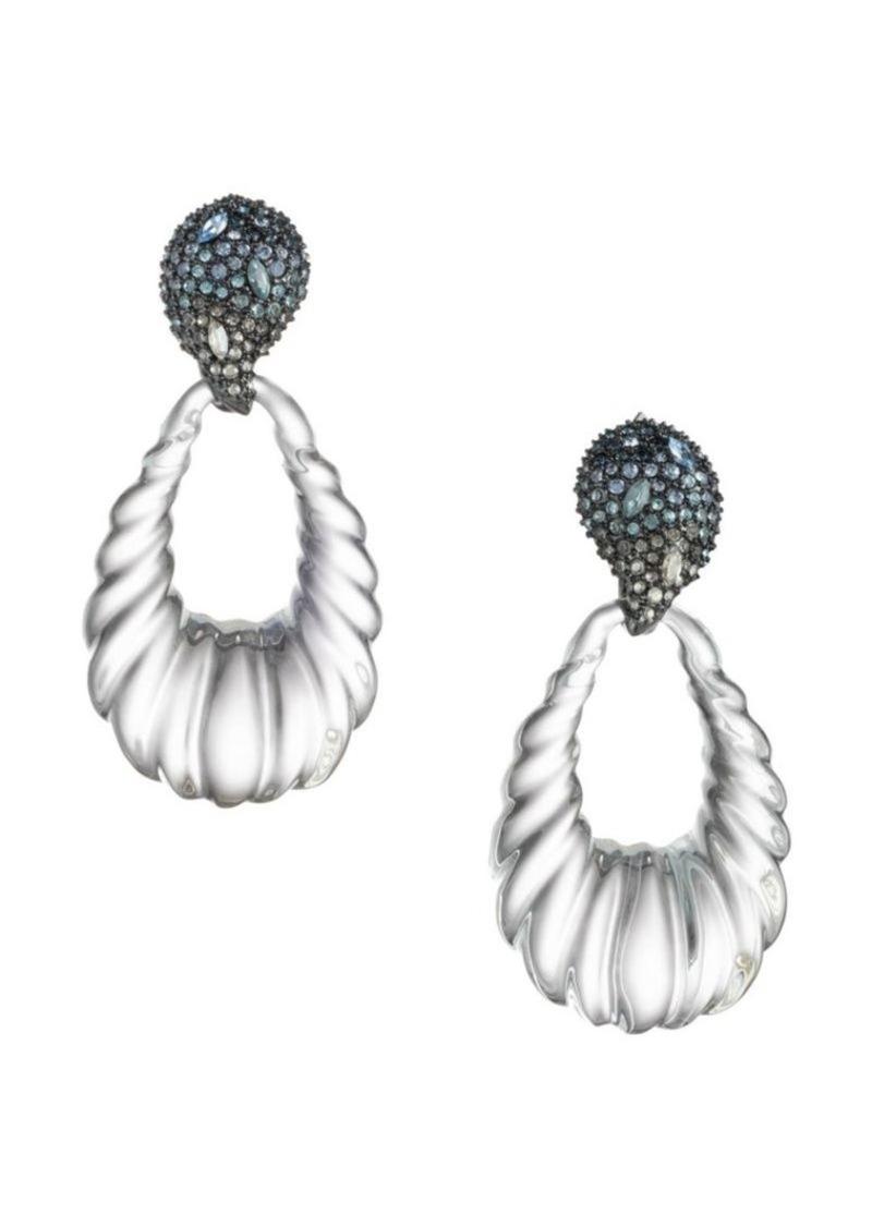 Alexis Bittar Crystal Encrusted Ombré Paisley Rope Teardrop Earrings