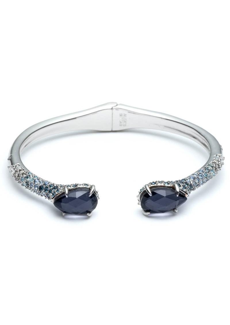 Alexis Bittar Crystal Encrusted Ombre Hinge Bracelet