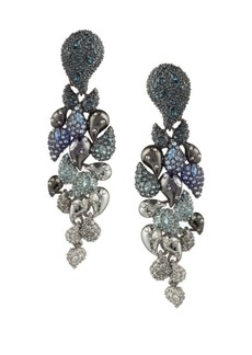 Alexis Bittar Crystal Encrusted Ombre Paisley Clip-On Earrings