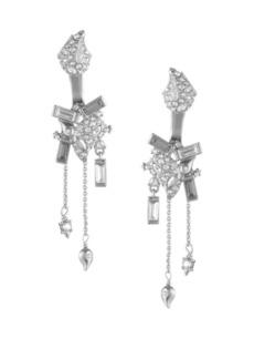 Alexis Bittar Crystal Encrusted Paisley Earring Jacket