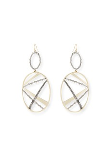 Alexis Bittar Crystal Encrusted Plaid Drop Earrings