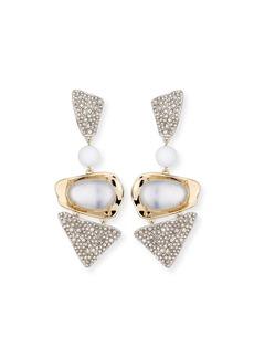 Alexis Bittar Crystal-Encrusted Powdercoat Clip-On Earrings