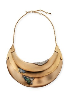 Alexis Bittar Crystal Encrusted Roxbury Bib Necklace