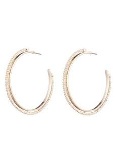 Alexis Bittar 10K Gold Plated Crystal Encrusted Spiked Hoop Earrings