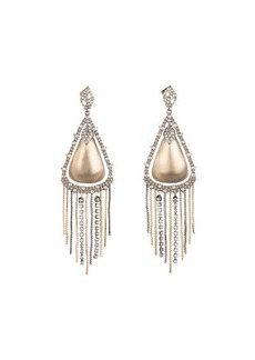 Alexis Bittar Crystal Encrusted Tassel Drop Earrings