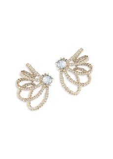 Alexis Bittar Crystal Lace Orbiting Goldtone Post Earrings