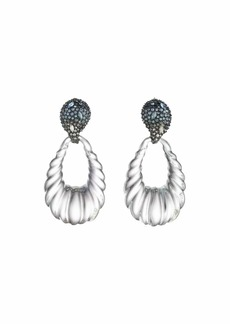 Alexis Bittar Crystal Paisley Rope Teardrop Earrings
