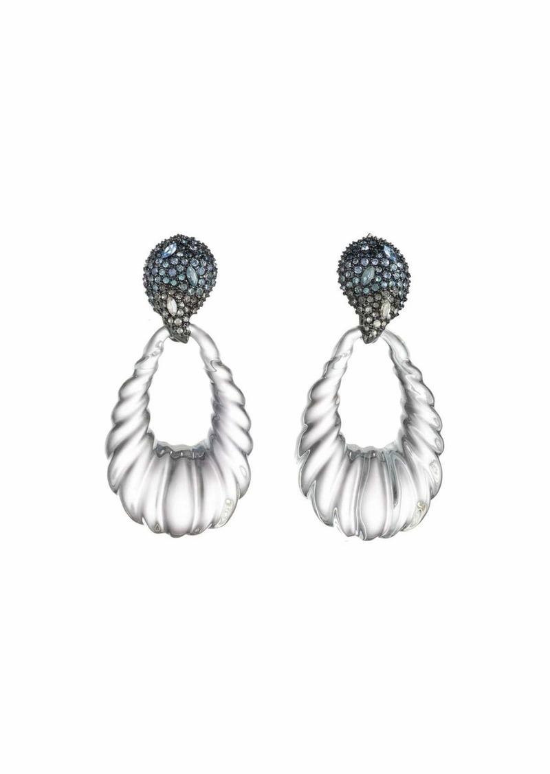 Alexis Bittar Crystal Paisley Rope Teardrop Earrings