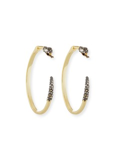 Alexis Bittar Crystal Snake Hoop Earrings