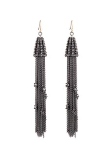 Alexis Bittar Crystal Tassel Wire Earrings