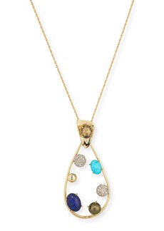 Alexis Bittar Crystal Teardrop Pendant Necklace