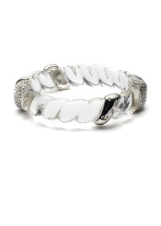Alexis Bittar Crystal Twisted Rope Hinge Bracelet