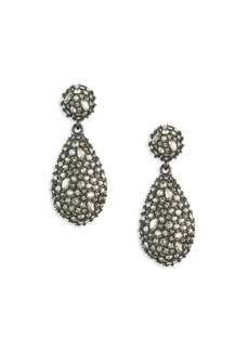 Alexis Bittar Earring Capsule Swarovski Crystal Pod Drop Earrings