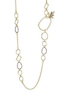 Alexis Bittar Elements 10K Goldplated Pineapple Link Necklace