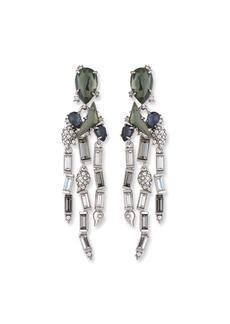 Alexis Bittar Fancy Stone Cluster & Fringe Earrings