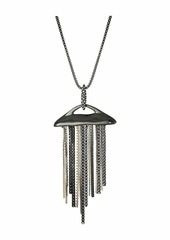 Alexis Bittar Fringed Pendant Necklace