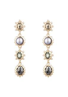 Alexis Bittar Georgian Linear Drop Earrings