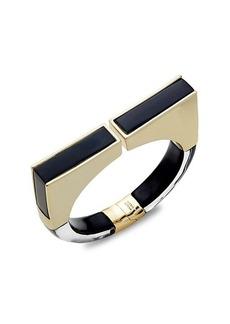 Alexis Bittar Goldplated Lucite Hinge Bracelet