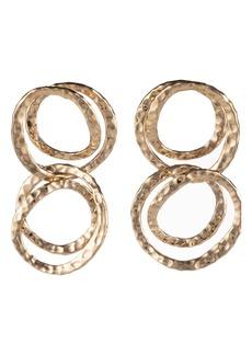 Alexis Bittar Hammered Coil Link Dangle Loop Earrings