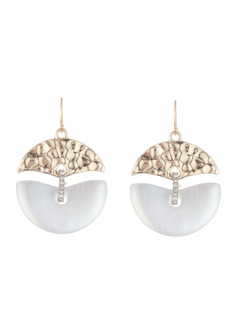 Alexis Bittar Hammered Mobile Wire Earrings  Silver