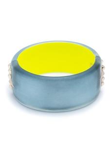 Alexis Bittar Large Studded Hinge Bracelet, Blue