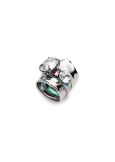 Alexis Bittar Liquid Crystal Stacked Rings  Set of 2