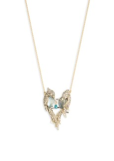 Alexis Bittar Love Bird Pendant Necklace