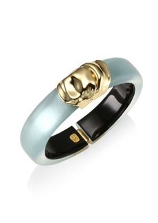 Alexis Bittar Lucite Watery Metal Lucite Hinge Bracelet
