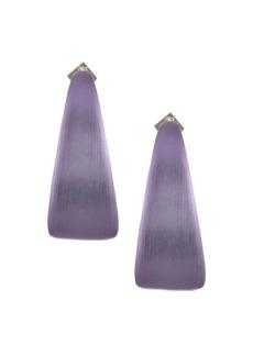 Alexis Bittar Metallic Maji Medium Hoop Earrings