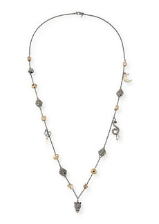 Alexis Bittar Mixed Crystal Charm Necklace