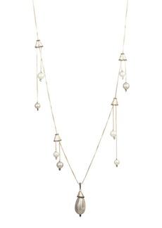 Alexis Bittar Multi-Pearl Drop Necklace