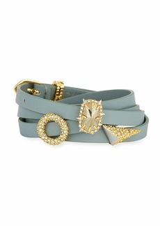 Alexis Bittar Multi-Wrap Leather Charm Bracelet