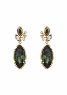 Alexis Bittar Navette Crystal Cluster Drop Post Earrings