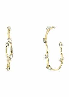Alexis Bittar Navette Crystal Hoop Earrings