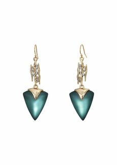 Alexis Bittar Navette Spiked Triangle Drop Wire Earrings