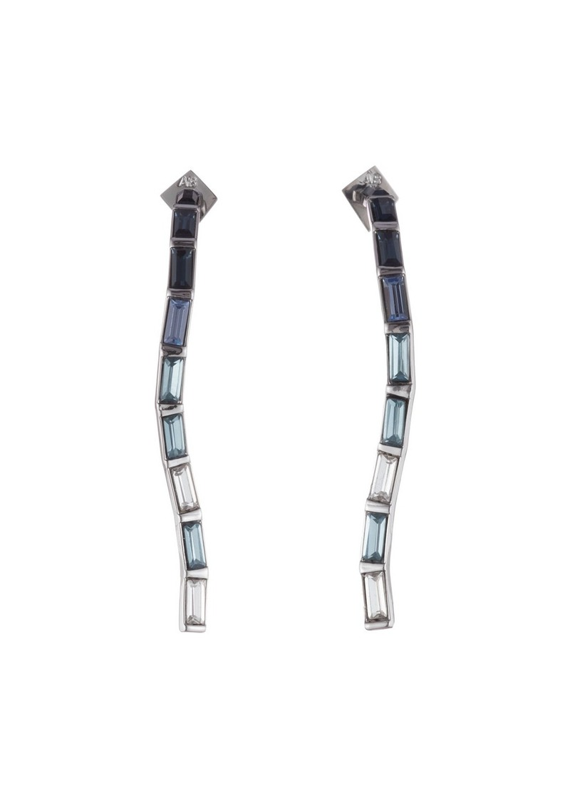 Alexis Bittar Ombre Crystal Baguette Linear Earrings