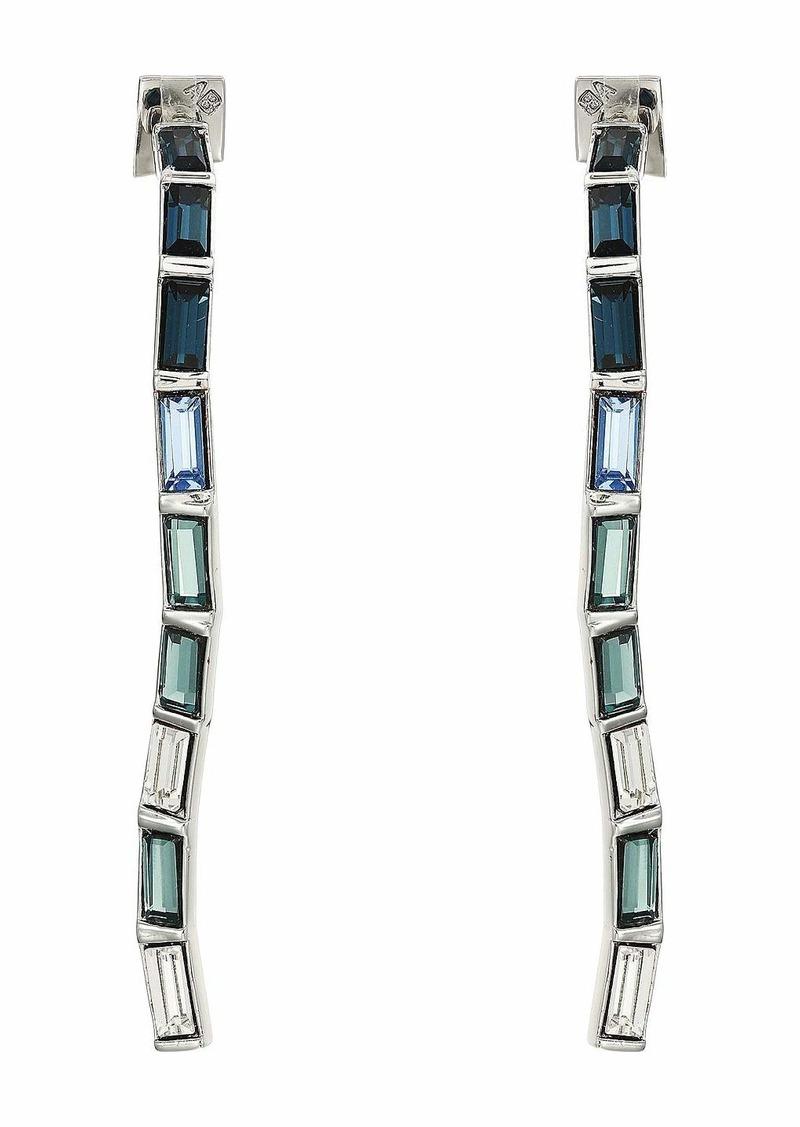 Alexis Bittar Ombre Crystal Baguette Linear Post Earrings