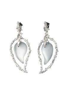 Alexis Bittar Paisley Crystal Baguette Cluster Earrings