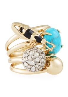Alexis Bittar Pavé Crystal Ball & Bee Ring
