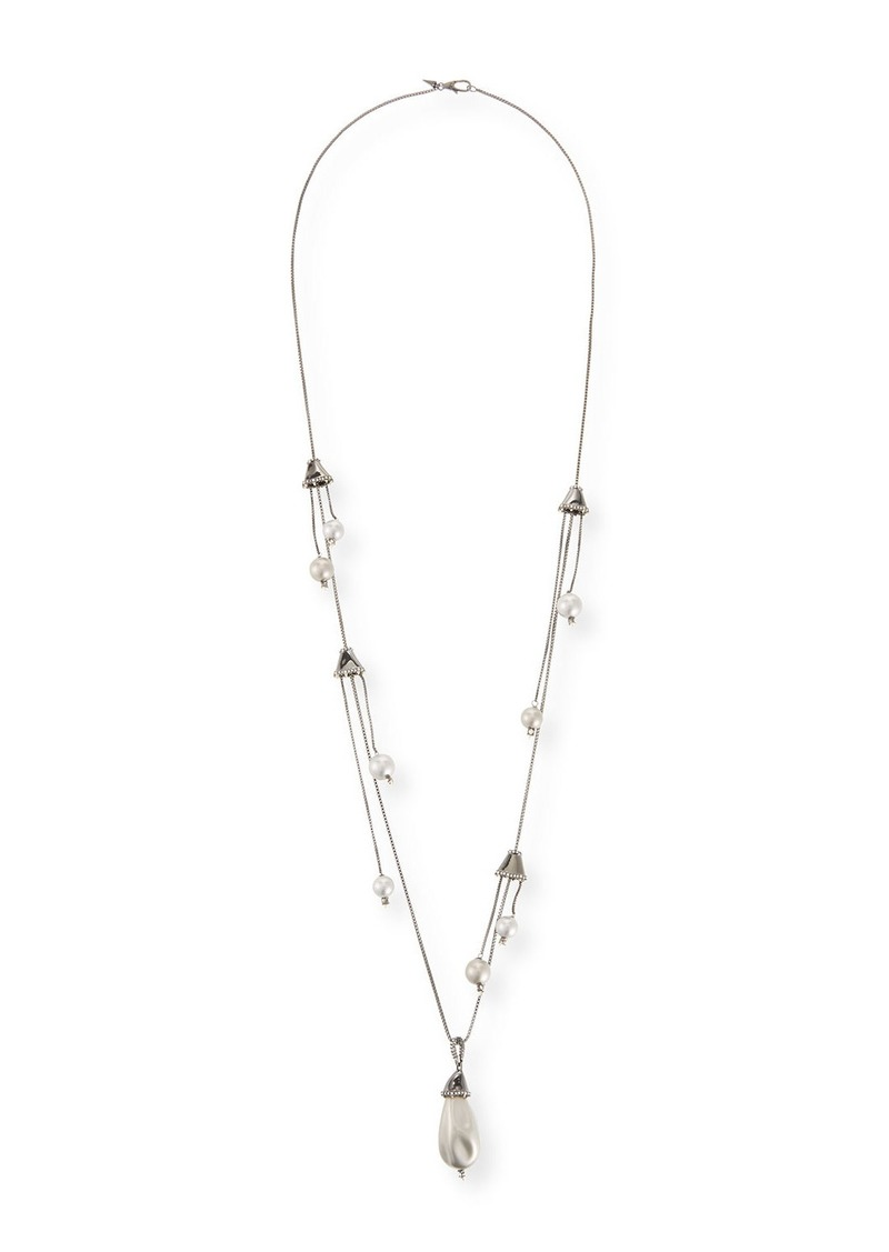Alexis Bittar Pearly Drop Station Necklace